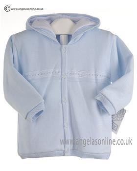 Pex Baby Boys Knitted Jacket Simon 6072 Blue