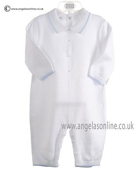 Pex Baby Boys Knitted Romper Dudley 6067 White