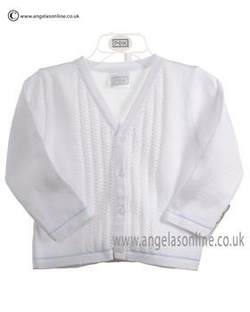 Pex Baby Boys Cardigan Leon 6043 White