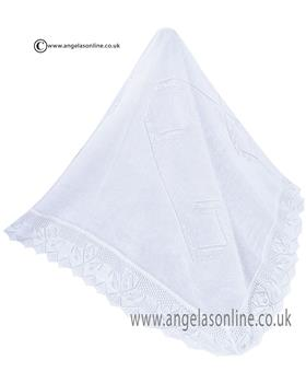 Sarah Louise Shawl 000007 White