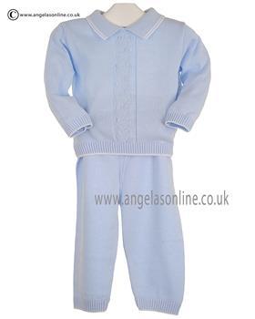 Pex Boys Jumper & Trouser Edward B6097  Blue/White