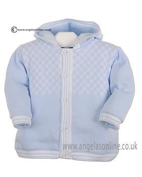 Pex Baby Boys Knitted Jacket Byron B6201 Blue/White