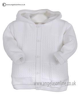 Pex Baby Boys Knitted Jacket Garret B6103 White