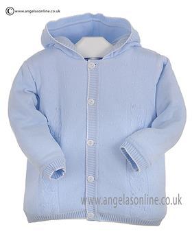 Pex Baby Boys Knitted Jacket Edward B6099 Blue/White