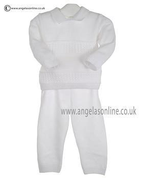 Pex Boys Jumper & Trouser Garret B6102 White