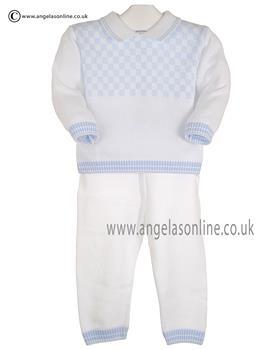 Pex Boys Jumper & Trouser Byron B6200  White/Blue