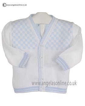 Pex Boys Bryon Cardigan B6109 White/Blue