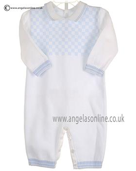 Pex Boys Knitted All In One Byron B6108 White/Blue
