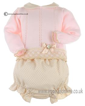Granlei Baby Girls Jumper & Shorts 2-1082 Pink