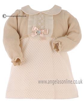 Granlei Baby Girls Dress 2-1095 Cream