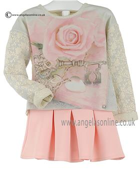 Fun Fun Girls Top & Skirt BST7007/6468