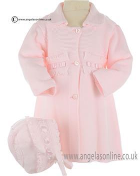 Granlei Girls Knitted Coat 2-1362 Pink
