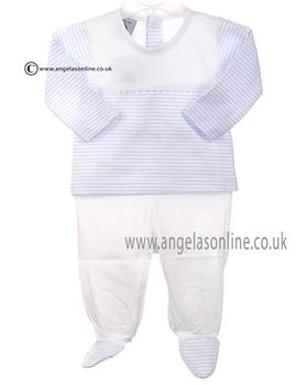 Babidu Baby Boys Top & Footsie Bottom 57213 Blue
