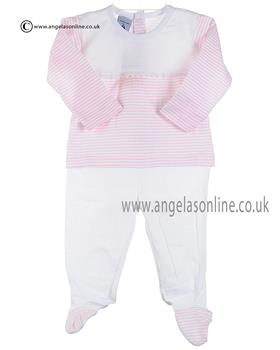 Babidu Baby Girls Top & Footsie Bottom 57213 Pink