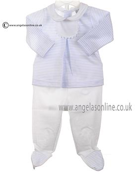 Babidu Baby Boys Top & Footsie 56213 Blue