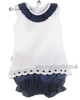 Babidu Baby Girls Top & Short 41210 Navy