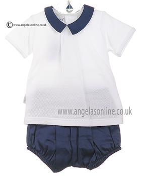 Babidu Baby Boys Shirt & Shorts 45310 Navy