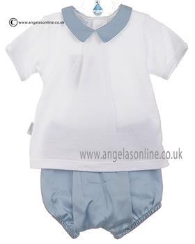 Babidu Baby Boys Shirt & Shorts 45310 Blue
