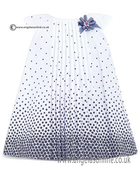 Sarah Louise Girls Dress 010426 WH/NY