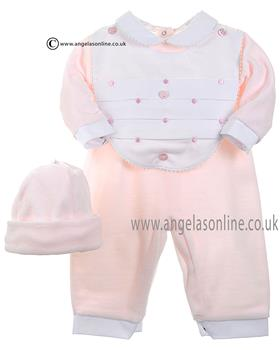Coco Girls All in One, Hat & Bib 4500 Pink