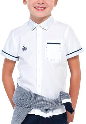Mayoral Boys Shirt 3134 WH/BL
