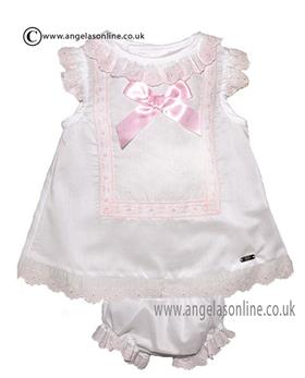 Dolce Petit Baby Girls Dress & Panty 19-2109-VB White