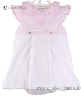 Laranjinha Baby Girls Body Dress V6751 Pink