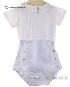 Laranjinha Baby Boys Body & Jam Short V6826/V6815 WH/BL
