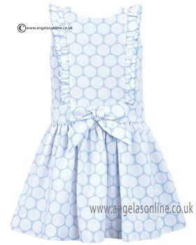 Dani Girls Dress D09025 Blue
