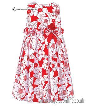 Sarah Louise Dress 010431 WH/RD