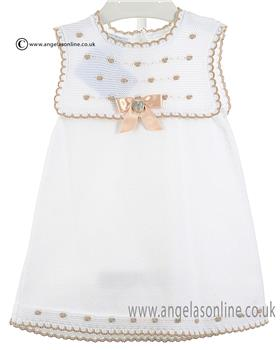 Granlei Girls Dress & Knickers 1-118 White