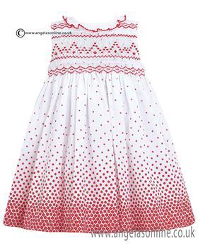 Sarah Louise Dress 010427 WH/RD