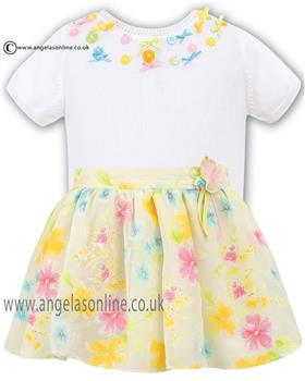 Sarah Louise Girls Knit Top & Lemon Print Skirt 010310/010363