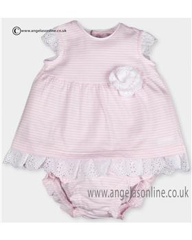 Tutto Piccolo Baby Girls Dress & Knickers 9484 WH/PK