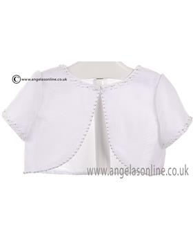 Sarah Louise Girls Bolero 057001 White