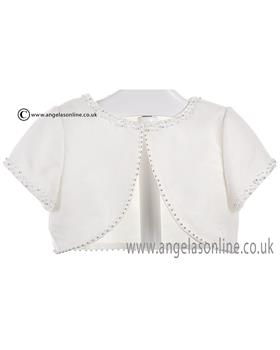 Sarah Louise Girls Bolero 057001 Ivory