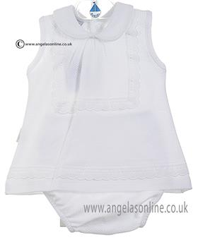 Babidu Baby Girls Dress& Knicks 22300 White