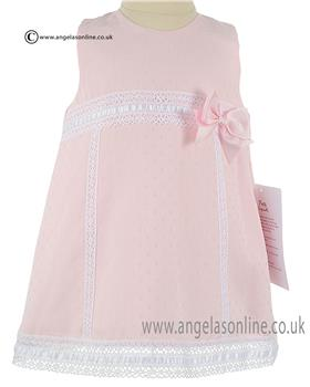 Pretty Original Baby Girls Dress & Knicks MB10312E Pink/White