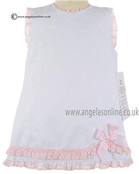 Pretty Originals Baby Girls Dress & Jam Pant MB10316 WH/PK