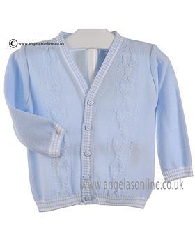 Pretty Originals Baby Boys Cardigan JPB1090E Blue/White