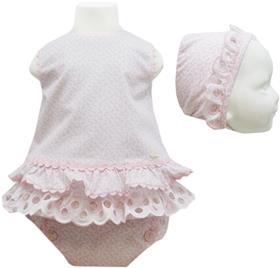 Miranda Baby Girls Dress Bonnet and Knickers 19-0042-VBG