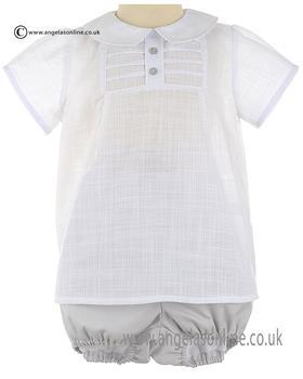 Granlei Baby Boy Shirt & Short 1-505 Grey