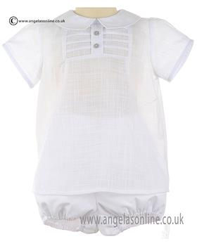 Granlei Baby Boy Shirt & Short 1-505 White