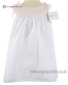 Mebi Baby Girls Dress 1409-057 WH/PK