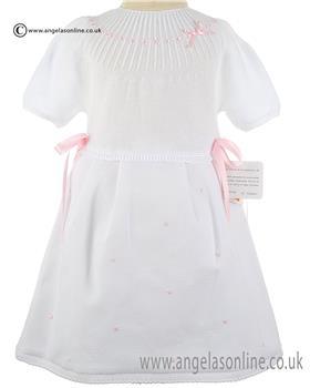 Mebi Baby Girls Dress 1333-057 WH/PK