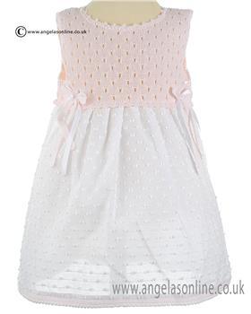 Mebi Baby Girls Dress 1410-057 PK/WH
