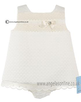 Granlei Baby Girls Dress & Knicks 1-305 Cream