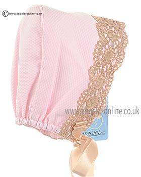Granlei Baby Girls Bonnet 1-153 Pink
