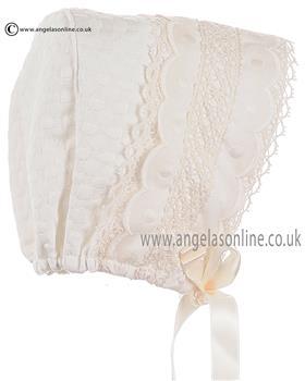 Granlei Baby Girls Bonnet 1-308 Cream