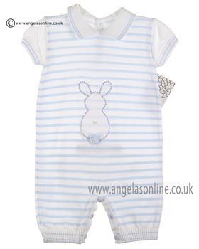 Pex Boys Bunny Romper B5941 White/Blue